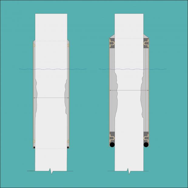Opciones de reparación en función de la pérdida de sección transversal