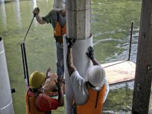 reparación in situ de pilotes (marinos) dañados