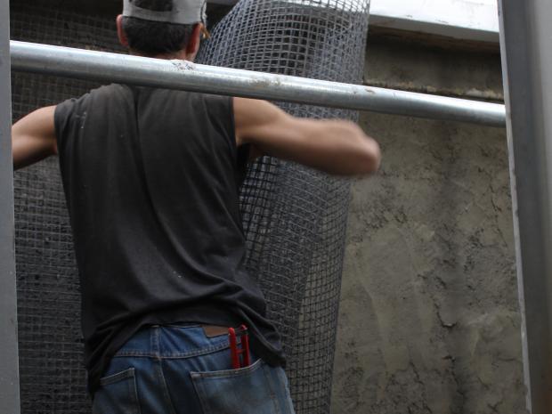 Flexibilidad en espacios muy reducidos para la  colocación de la malla de fibra de carbono S&P ARMO-mesh®